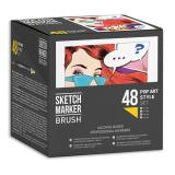 Набор маркеров Sketchmarker BRUSH Pop Art style 48шт поп арт пластик.бокс