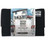 Набор маркеров Sketchmarker BRUSH Outdoor Set 24шт Плэнер + сумка органайзер